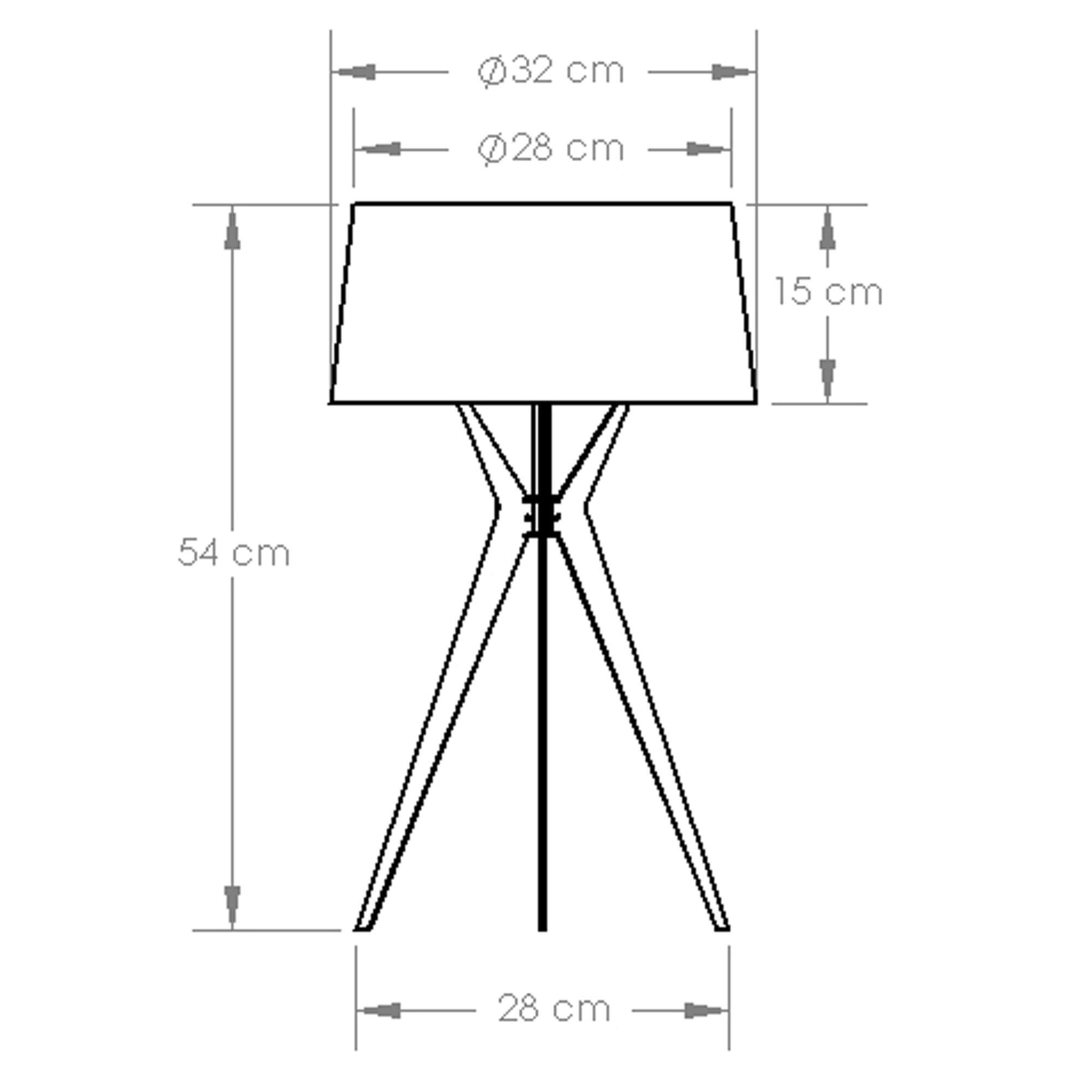 kích thước đèn ngủ để bàn